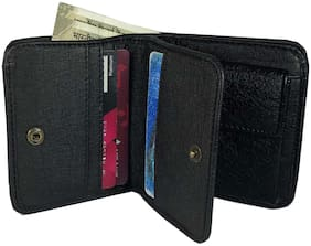 WZ WENZEST Men Black Leather Bi-Fold Wallet ( Pack of 1 )