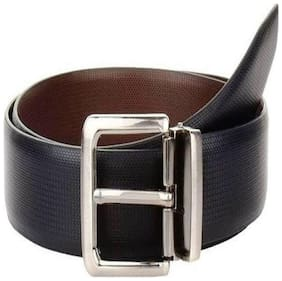 WENZEST Men Formal Stylish Brown, Black Reversible Belt ( Free Size (28-44) cut to fit size)