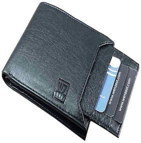 WZ WENZEST Men Black Leather Bi-Fold Wallet ( Pack of 1 )