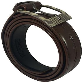 WENZEST Men Casual, Formal, Party Brown/Black Artificial Leather Belt,Irreversible Buckle ( Free Size (28-44) cut to fit size)