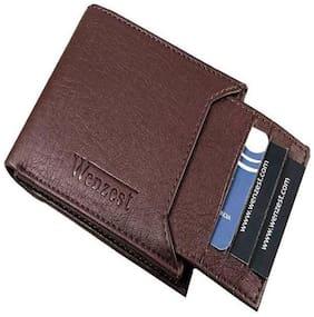 PU Bi-Fold Wallet ( Brown )