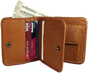 WZ WENZEST Men Tan Leather Bi-Fold Wallet ( Pack of 1 )