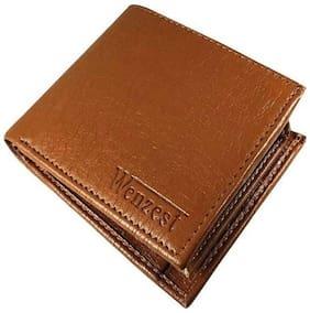 WZ WENZEST Men Tan Leather Bi-Fold Wallet ( Pack of 1 )
