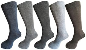 WESTOROS Multi Wool Calf length socks ( Pack of 5 )