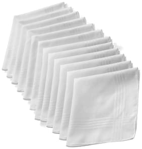 white handkerchief pack of 12
