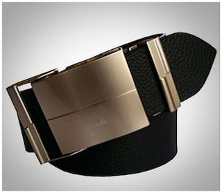 Wholesome Deal Black Leather Auto Lock Buckle Belt
