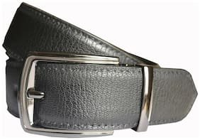 Wholesome Deal men's black non leather pin buckle belt(28)