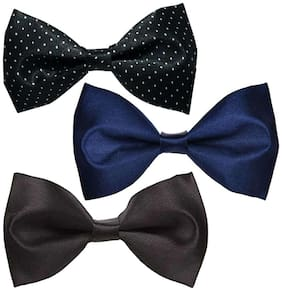 Wholesome deal men's multi coloured neck bow tie (Pack of 3)