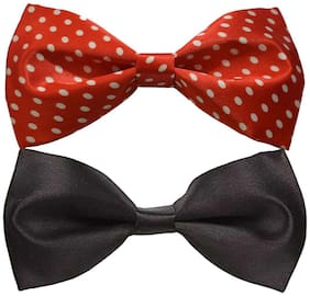 Wholesome deal men's multi coloured neck bow tie (Pack of 2)