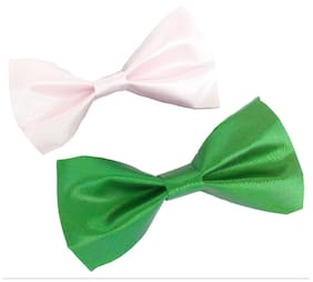 wholesome deal green and light pink neck bow tie(Pack of two)