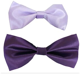 wholesome deal purple and light purple neck bow tie (pack of two)