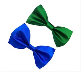wholesome deal royal blue and greeen neck bow tie (pack of two)