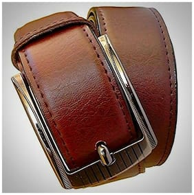 Wholesome Deal Brown Non Leather Pin Buckle Belt