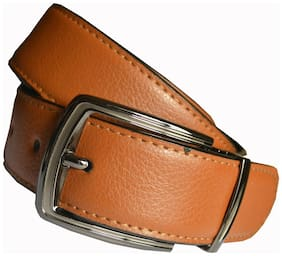 Wholesome Deal men's brown non leather pin buckle belt(34)