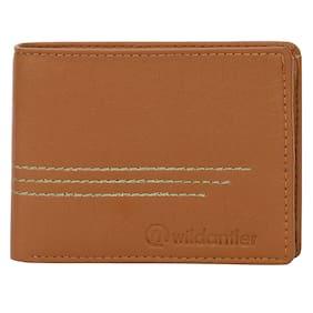 Wildantler Men's Tan Artificial Leather Wallet