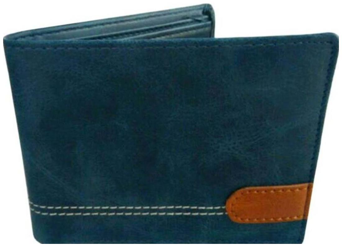 Wildantler Men's Boys Top Grey Multicolor Artificial Leather Wallet   6 Card Slots