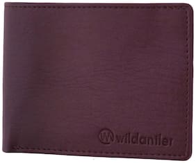 Wildantler Men/ Boys Brown Wallet with Album Synthetic Leather (10 Card Slots)