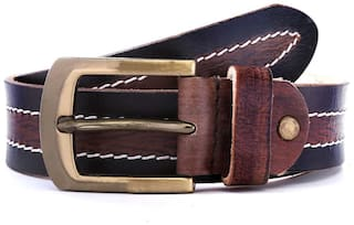 WildHorn Black And Brown Belt (Size-28)
