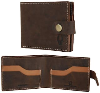 WildHorn Brown Hand Crafted Genuine Men's Leather Wallet