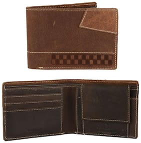 WildHorn Brown Genuine Hunter Men's Leather Wallet