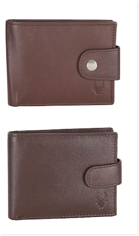 Wildhorn Genuine Leather Combo Of 2 Wallet.
