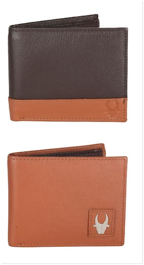 Wildhorn Genuine Leather Combo Of 2 Wallet