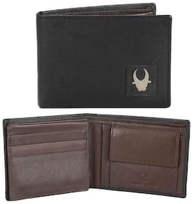 WildHorn Genuine Leather Black Saffiano Mens Wallet