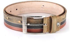 WildHorn Men Brown Leather Belt (Size: 34 , Pack of 1 )
