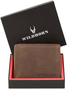 WILDHORN NEW HIGH QUALITY RFID PROTECTED MEN S GENUINE  LEATHER WALLET / RFID BLOCKING WALLET FOR MEN