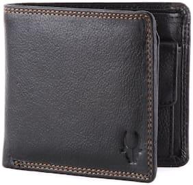 WildHorn Black Genuine Leather Wallet