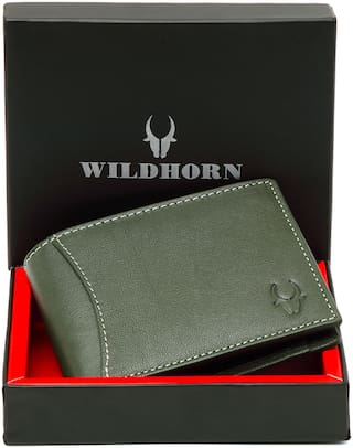 WildHorn  Old River Genuine High Quality Mens Leather Wallet