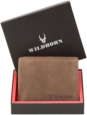 WILDHORN RFID Blocking Protected Leather Men's Wallet (Tan)