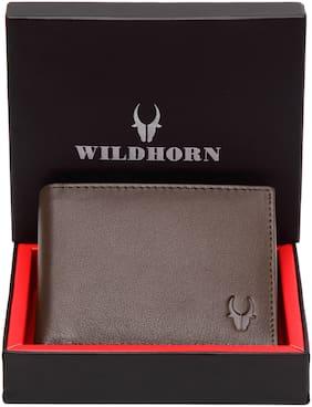 WildHorn Men Brown Leather Bi-Fold Wallet ( Pack of 1 )