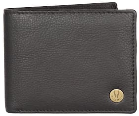 WildHorn Tan Crunch 100% Genuine Men's Leather Wallet (Black)