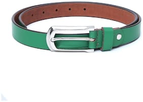 Women PU Belts ( Green )