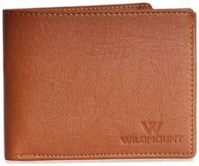 wildmount Boys Tan Artificial Leather Wallet  10 Card Slots