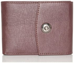 Wildmount Men Brown Leather Tri Fold Wallet ( Pack of 1 )