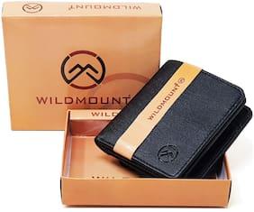Wildmount Men Black Artificial Leather Wallet