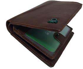 Wildmount Men Brown Genuine Leather Wallet