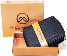 Wildmount Men Black Artificial Leather Wallet