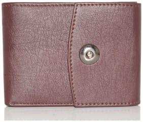 Wildmount Men Brown Pu Leather Wallet (6 Card Slots)
