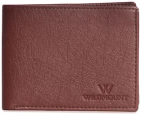 Wildmount Men Brown Artificial Leather Wallet  (9 Card Slots)