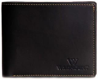 Wildmount  Men Black Genuine Leather Wallet  (3 Card Slots)