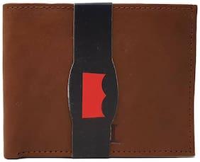 Wildmount Men Tan Genuine Leather Wallet