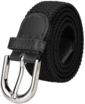 Winsome Deal Women Canvas Belt - Black