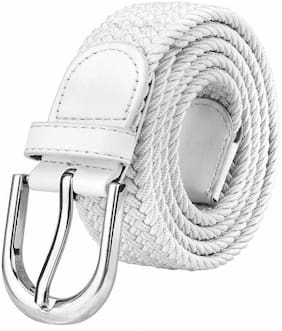 Winsome Deal Women Canvas Belt - White
