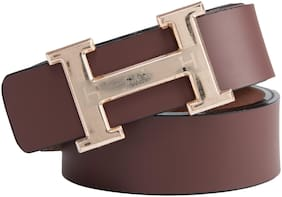 Winsome Deal Men Brown Synthetic leather Belt (Size: 34 , Pack of 1 )