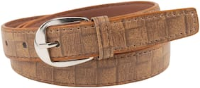 Winsome Deal Women Synthetic Leather Belt - Brown