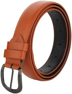 Women Synthetic Leather Belts ( Tan )