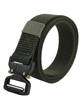 Winsome Deal Men's Formal Army Style;Quick Release Buckle;Canvas Green Belt